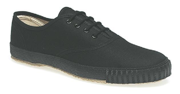 Black White Plimsoles Plimsols Pumps Pe Gym Shoe Plain Toe Cap Retro Old School Vente En Ligne Du Dernier ModèLe En 2019 50%