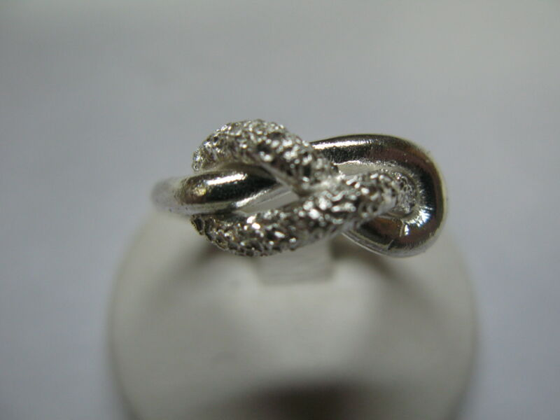 Ring Man Woman / Love Knot Silver Hand Craft 925