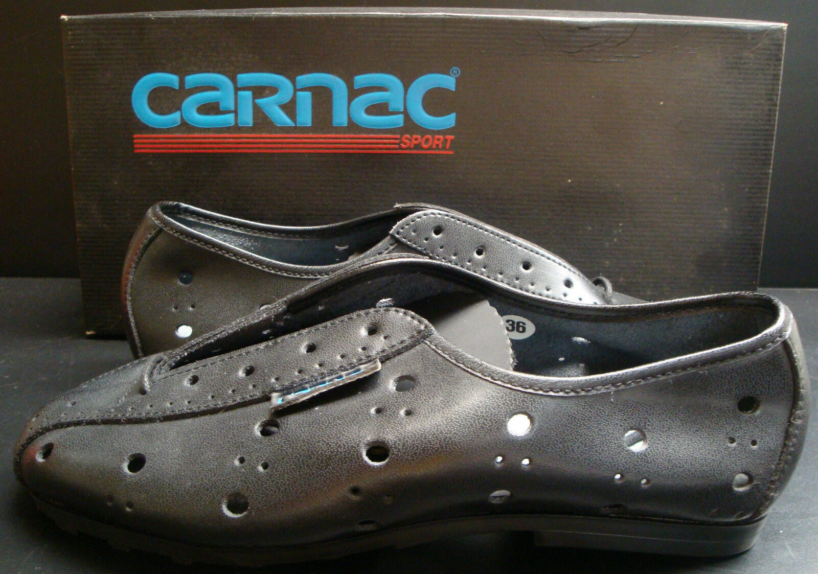 NIB  CARNAC FORCLAZ CYCLO TOURISME SHOES SIZE 36 MADE IN FRANCE VINTAGE
