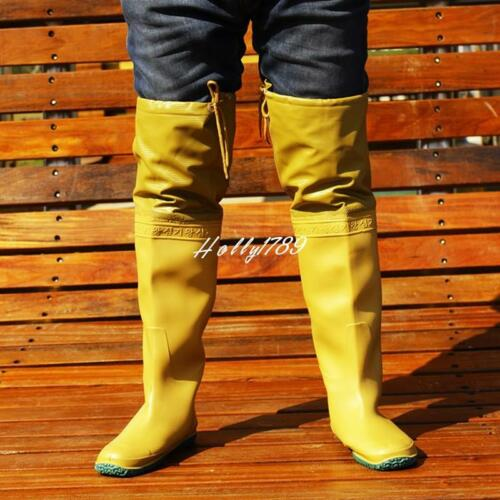 Men/'s Rain Boot Shoes Rubber Lace Up Fishing Waterproof Work Knee High Boots