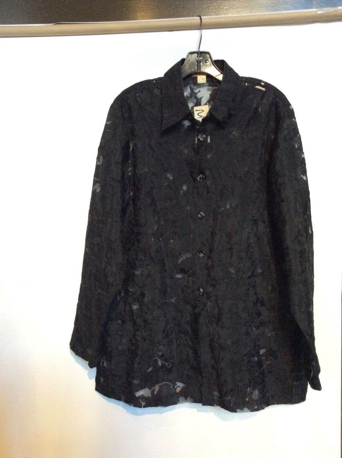 NWT 1X beautiful See through schwarz blouse by Sukik