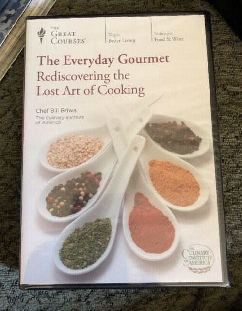 Great Courses EVERYDAY GOURMET Rediscovering The Lost Art Of Cooking 4 DVD's New