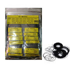 950pcs 0.6mm 12mm-30mm Set O Ring Rubber Seal Washers Watch Case Back Gaskets