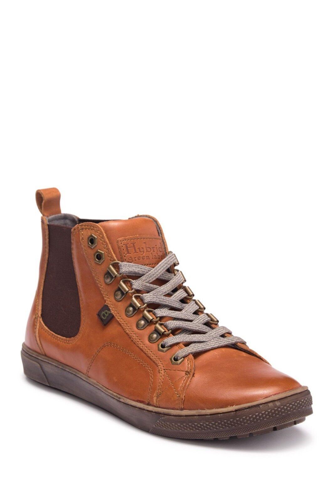 Nuevas botas de cuero industrial Label Híbrido verde Para hombres Zapatos