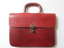 Vintage Etienne Aigner Handmade Hand Bag / Satchel - Brass Turn Lock - Ox Blood
