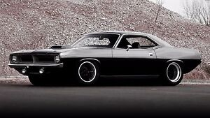 "plymouth hem cuda 70 tuning custom muscle car poster 19""x 13"
