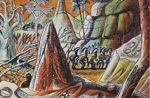 Edward-Bawden-RA-1903-1989-Original-Lithograph-1949-lk-Eric-Ravilious