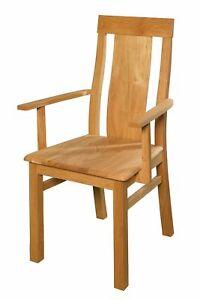esszimmerstuhl eiche mit armlehne k chenstuhl esszimmerstuhl massivholzstuhl ebay. Black Bedroom Furniture Sets. Home Design Ideas