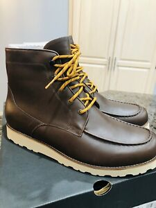 9541655be3d Details about New Ugg Men's Agnar Moc Toe Boot Grizzly 1017288 Brown  Waterproof