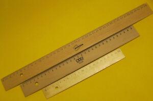 Lineal Holz Holzlineal 20 30 und 40 cm naturbelassene<wbr/>s Holzlineal Zeichenlineal