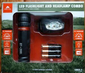 Ozark Trail Led Flashlight Amp Led Headlamp Combo New