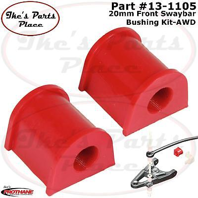 Prothane 16-1104 Red 20 mm Rear Sway Bar Bushing Kit