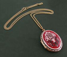 Großes älteres WIENER EMAILLE-MEDAILLON oval • Blumenkorb-Motiv