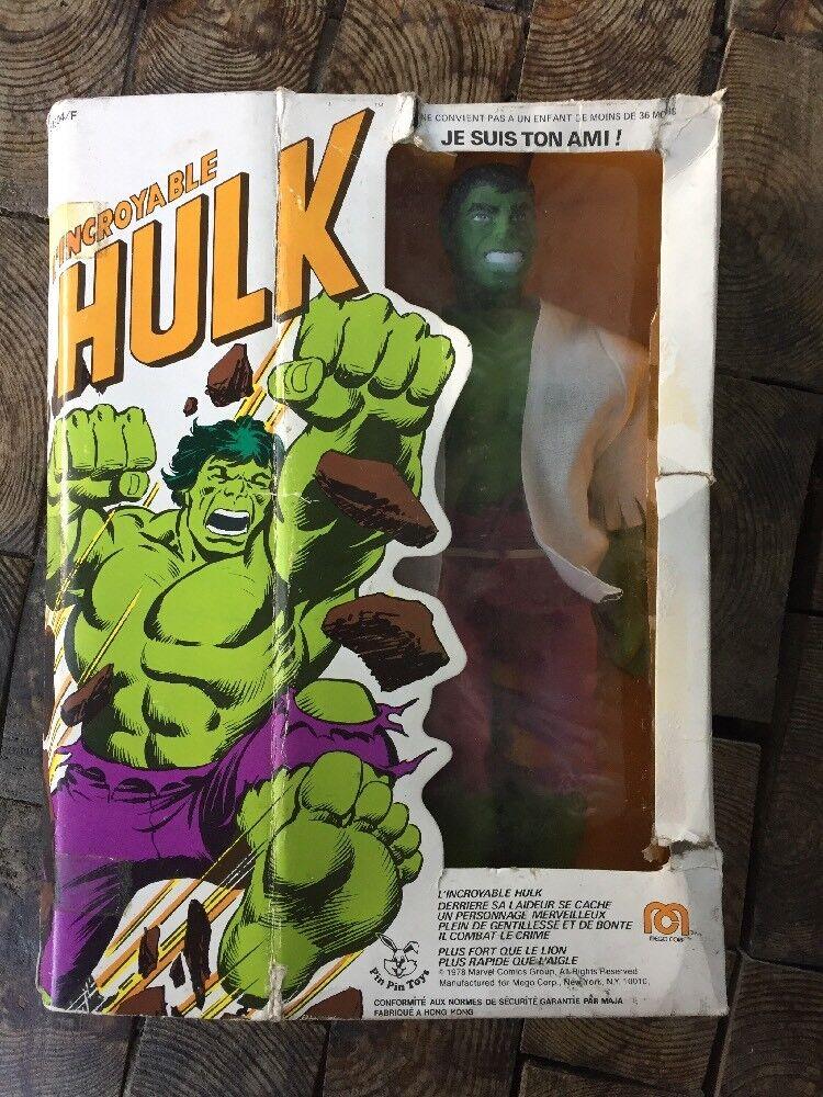 Hulk Mego Corp 1978 Pin Pin Toys En Boîte Très Rare