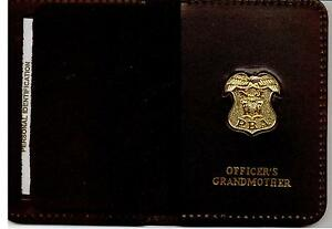 New-Jersey-PBA-Officer-039-s-Grandmother-Wallet-Gold-Plated-Mini-Badge-Included