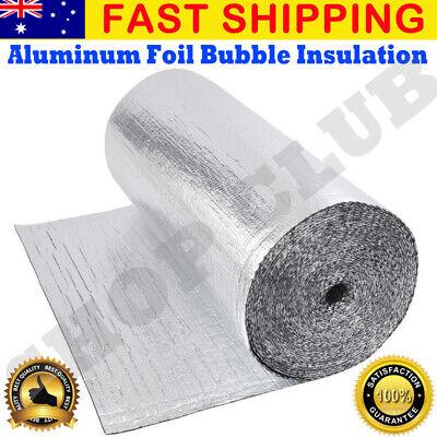 AUSTRALIA MADE CSIRO  TESTED SILVER FOIL BUBBLE INSULATION 4m L1500mm W