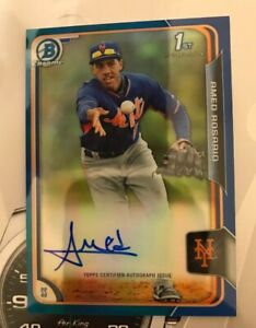 2015 Bowman Chrome Blue Refractor Amed Rosario RC Rookie AUTO 100/150🔥🔥💎💎