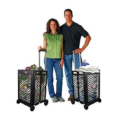 Best Mesh Rolling Cart W// Easy Rolling Four Wheel Operation 55-pound Capacity
