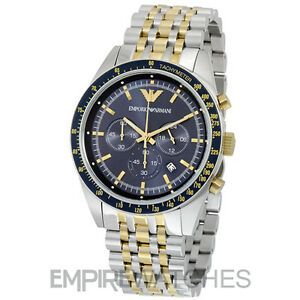 8dd76e7b58 La imagen se está cargando Reloj-Cronografo-nuevo-Para-Hombres-EMPORIO- ARMANI-TAZIO-