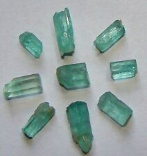 9 Natural Emerald Rough Gem Crystals