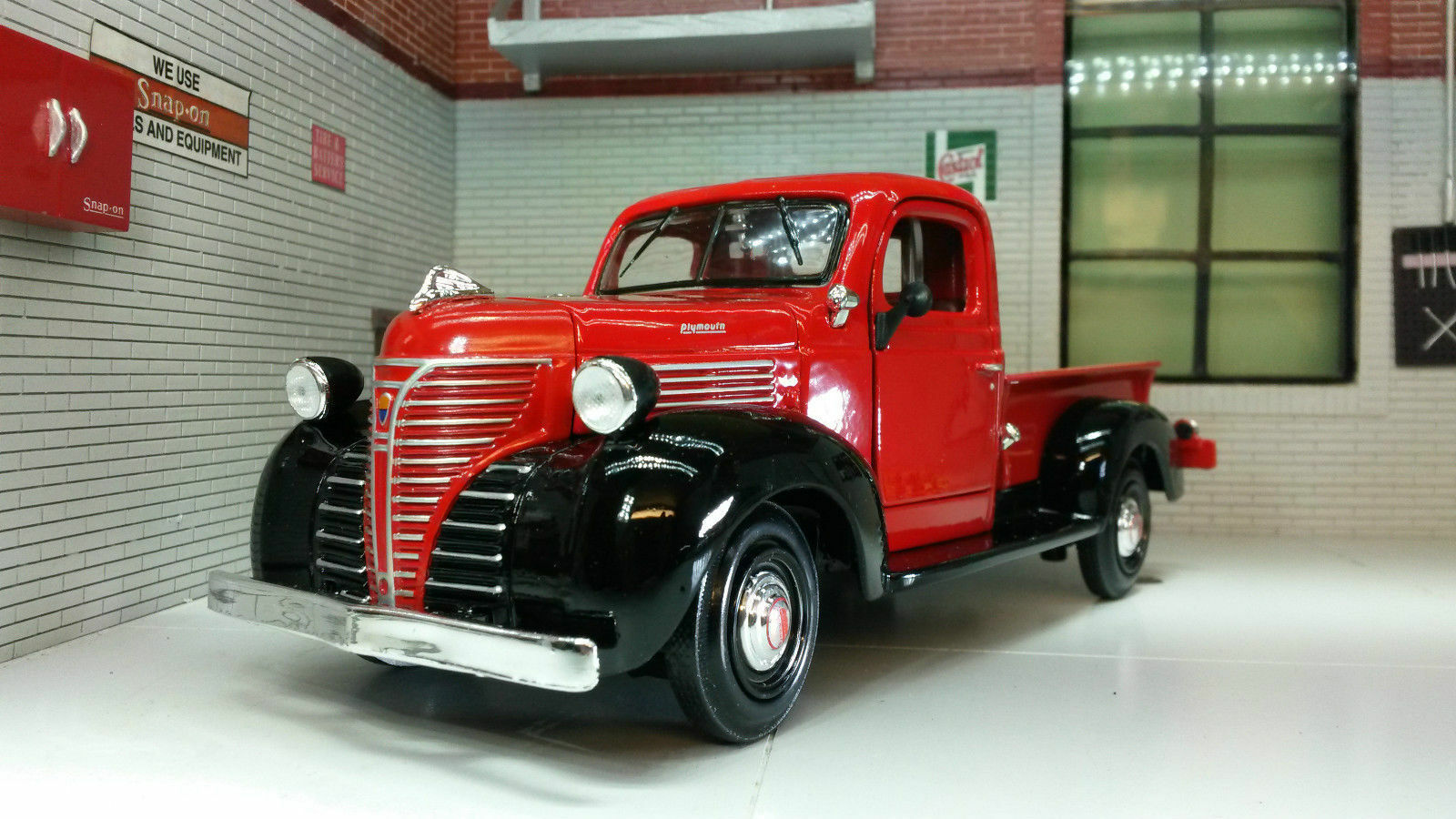 Plymouth Truck Pick Up 1941 Green Model Car 1 24 Motormax Ebay 2 Dr Coupe