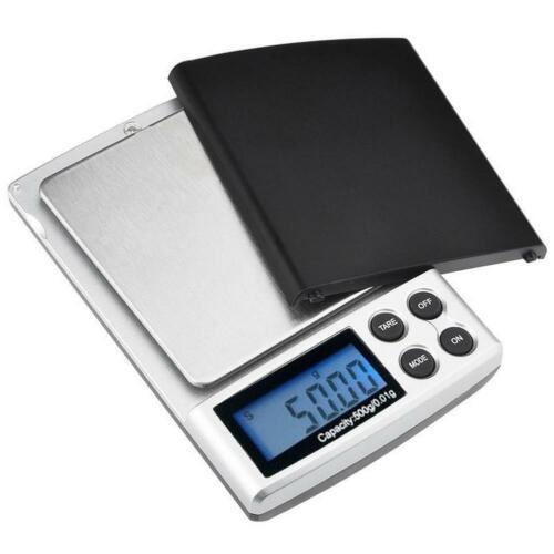 Mini Small Pocket Digital Gold Weighing Pans Scales 500g x 0.01g Gram Precision