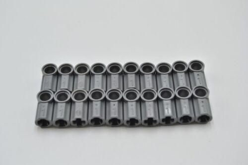 LEGO 20 x Verbinder neues dunkelgrau Dark Bluish Gray Technic Connector #1 32013