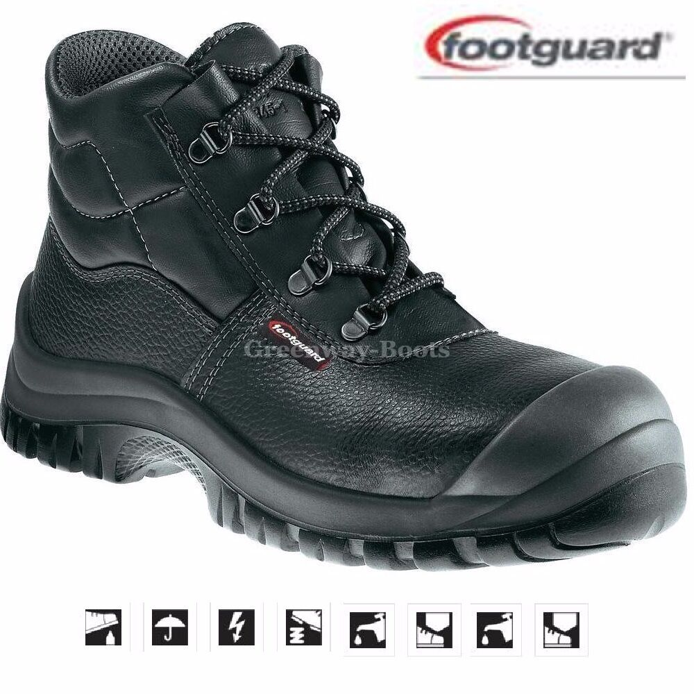 Hombre Footguard S3 LEATHER WORK CAP SAFETY botas STEEL TOE CAP WORK Zapatos TRAINERS SZ 6-13 c2e8c9