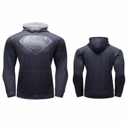 Mens 3D Marvel Superhero Hoodies Hooded Digital Print Sport Top Cosplay Costumes