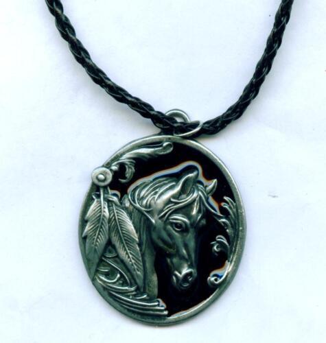 Collier Necklace cheval chevaux horse cheval indien western Bijoux