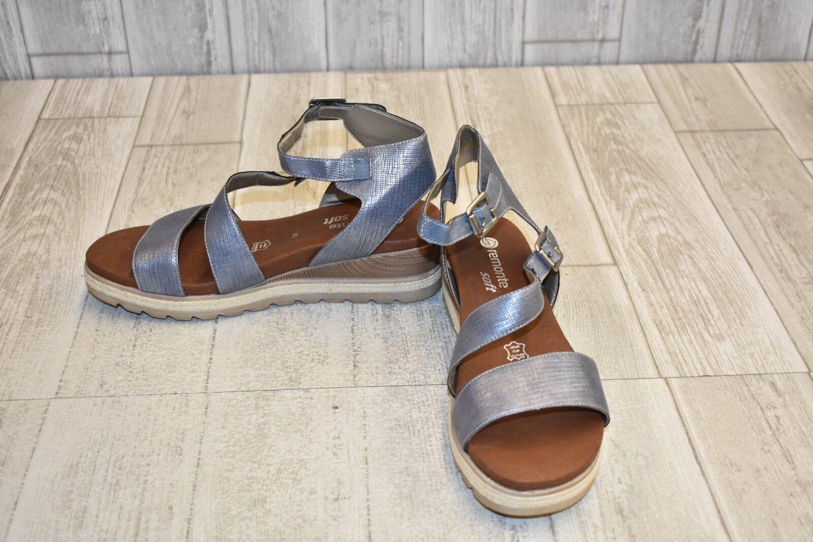 Remonte Rieker D6351 Icess 51 Sandals - Women's Size 9.5 - bluee