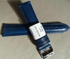New ZRC France Navy Blue Water Resistant 20mm Watch Band Chrome Buckle $24.95