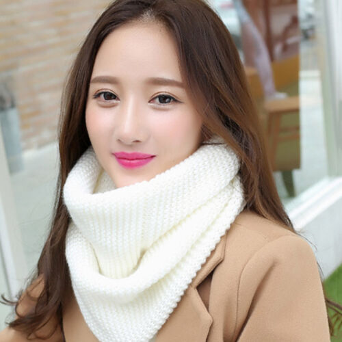 Women Scarf Scarves Neckerchief Knitting Keep Warm Loops Winter Autumn Soft