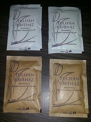 Zuckertütchen Zucker Sammlung Zuckertüten Zuckerbeutel Ungarn