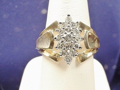 ESTATE 14K GOLD .50CT DIAMOND COCKTAIL RING Sz 7.25