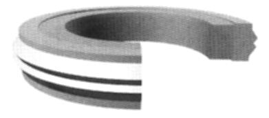 Crowned Piston Seal PS CP-334-3/'/' x 2-5//8/'/' x .255/'/'