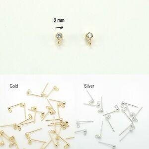 Image Is Loading Earring Findings Rhinestone Glossy Stud Jewelry Making