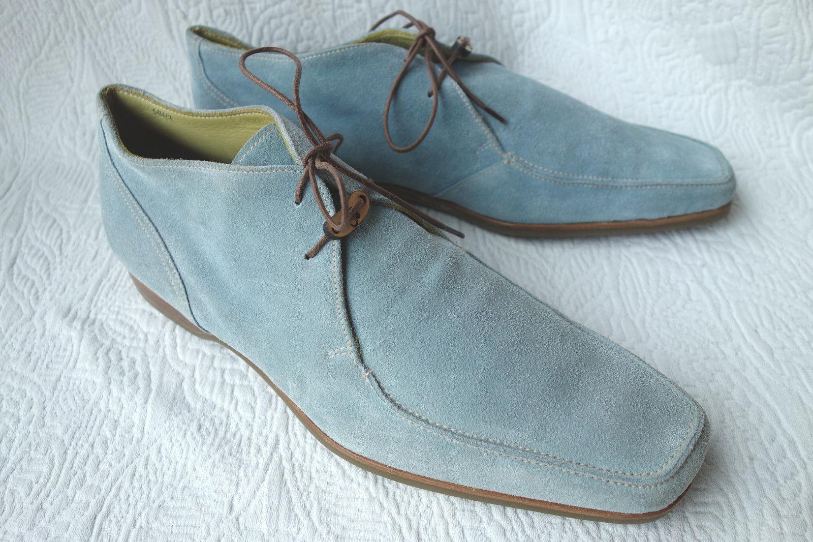 STEFANOBI - Luxus Schuhe aus hellblauem Wildleder ca 42 - neu und sehr leicht