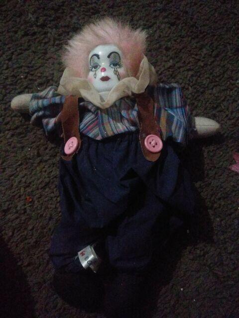 Vintage Clown Porcelain Face Doll