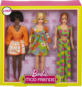 Gift-Set-3-Dolls-In-Retro-Fashion-Looks-Christie-And-Stacey-Barbie-Mod-Friends