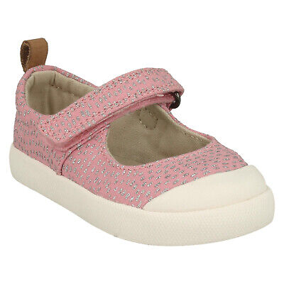 Girls Clarks Halcy Wink Casual Canvas Shoes