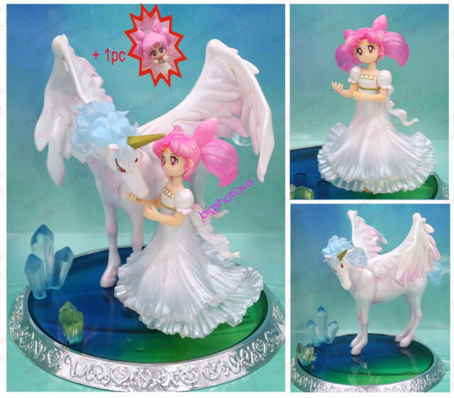 Anime Figuarts Zero Chouette Sailor Moon Chibi Usa /& Helios PVC Figure Model Toy