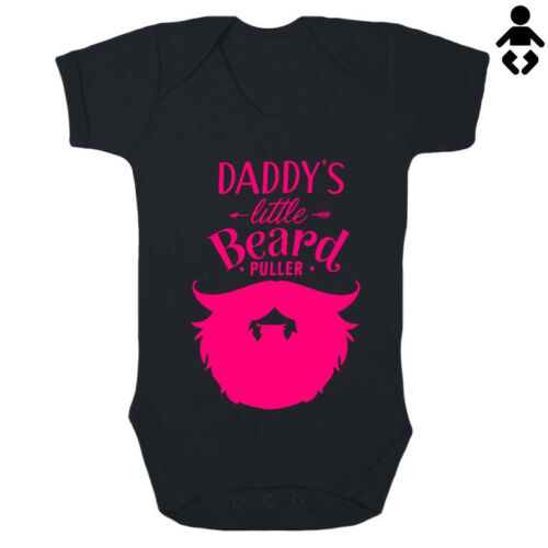 DADDY/'S LITTLE BEARD PULLER Christmas BABY VEST // GROW Bodysuit Dad funny