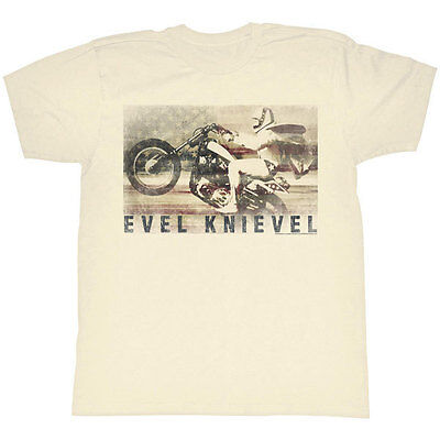EVEL KNIEVEL Men/'s Seventy Five Tee L Red