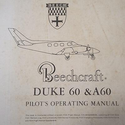 Beechcraft Duke 60 And Duke A60 Pilot S Operating Manual EBay