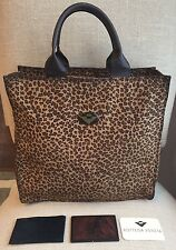 BOTTEGA VENETA Mirror Roomy Animal Nylon Leopard Purse Shopper Tote Bag Satchel
