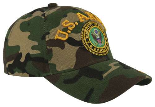 US ARMY ROUND BALL CAP HAT GREEN CAMO NEW