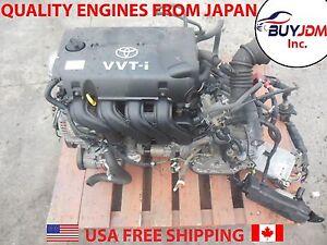 00-05 JDM Toyota Echo Yaris 1NZ 1NZ VVTi Engine Auto Trans Harns ECU