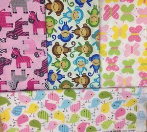 Robert Kaufman fabric Urban Zoologie Zebras Birds Monkeys Butteflies FQs cotton