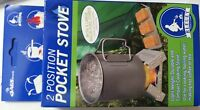 Bluet Pocket Camp Stove & 6 Fuel Cubes Emergency Preppers Camping Ultralight